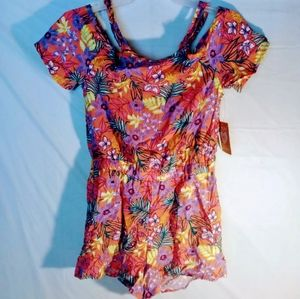 Girls floral romper